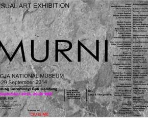 "27-29 September 2014  Visual Art Exhibition ""MURNI"" @gedung JNM Lantai 2"