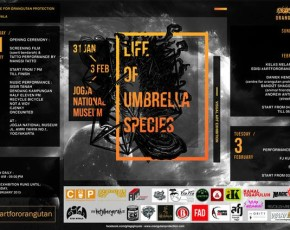 "31 Januari-3 Februari 2015 ART FOR ORANG UTAN ""LIFE OF UMBRELLA SPECIES"" at Gedung JNM lantai 1"