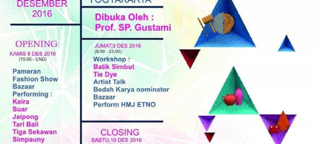 "Pameran & Awarding Kriya ISI Yogyakarta""KRIYA AWARD # 3 "" 8 -10 DESEMBER 2016 at Jogja National Museum"