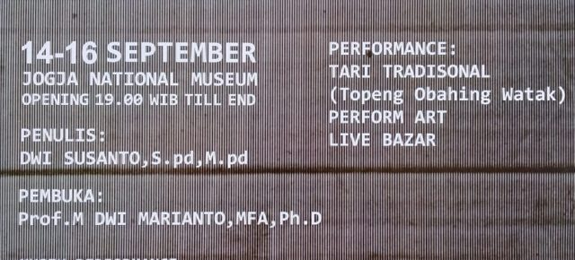 "Diesnatalies UST 63 ""Visual Art Exhibition"" @jogjanationalmuseum # 14 - 16 September 2018"
